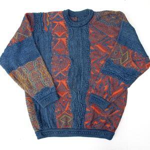 Coogi Blues Sweater Mens XL Multi Colorful